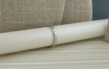 14K White Gold Irish Trinity Knot Diamond Wedding Ring Size 5 or 6.5 Shanore