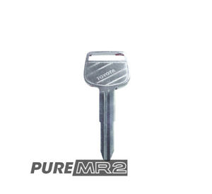 Original Blank Master Key With Metal Head Genuine Toyota MR2 SW20 NEW