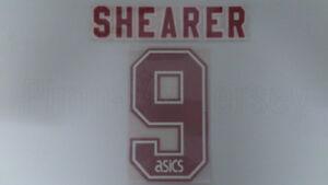 SHEARER #9 Blackburn Rovers Home 1994-1996 Name Set