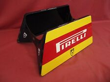 Original Porcelain Pirelli Tire Display Stand marked Smalterie Lombarde Italy