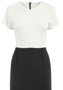 NEXT WOMENS STRETCHY BODYCON TEXTURED DRESS OFFICE WEAR SIZE 6~12 ONLY £14.95