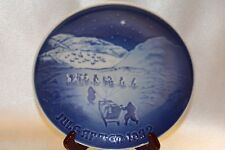 "Bing Grondahl Blue 1972 Jule After Annual Collector 7"" Plate Christmas Greenland"