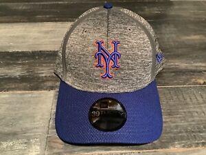 Men's New York Mets New Era 39Thirty Gray Retro MLB Clubhouse Flex Fit NWT S/M