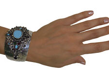 Ottoman Style Cuff Bracelet Harem Sultan High Quality Fashion Jewelry Aqua
