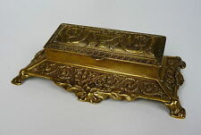 Briefmarkendose Stamp box Bronze 19 Jh.