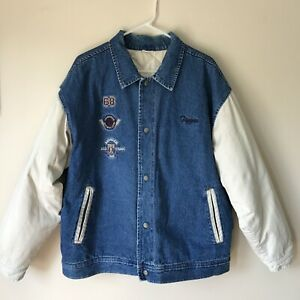 Disney Store Vintage Tigger Original Denim Varsity Jacket Adult Size XL 90s