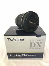 Tokina AT-X PRO 11-16mm f/2.8 Pro DX Wide Angle Lens for Nikon - Lightly Used