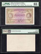 More details for malta, government issue, £1, (1940), a/16 032397 (wpm 20b). 65 gem unc.