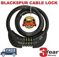 Resettable Digit Combination Bike Lock Bicycle Spiral Steel Cable Lock 1.2Mt UK