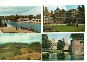 36 VINTAGE SALMON postcards:  TOPO VIEWS GB UK