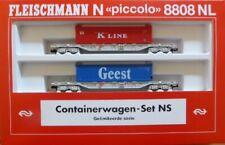 Fleischmann N 8808 NL; Containerwagen-Set NS, unbespielt in OVP /L238
