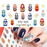 Nail Art Water Decals Stickers Transfers Decoration Russian Dolls Flowers (455)