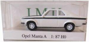 Opel Manta A - IMU / I.M.U Modell 1:87 - Weiss / Schwarz - NEU & OVP