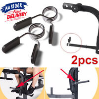 2X 25mm Barbell Spring Collar Clips Gym Weight Bar Dumbbell Lock Clamp AU