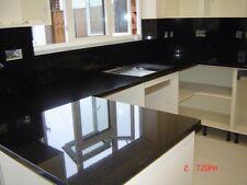 Noir Miroir de marbre et de granit et de quartz de Cuisine Granit