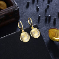 Celestial Sparkle Gold Drop Earrings - in Box! RV $39