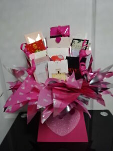 MY VALENTINE Perfume Vials Flower Style Bouquet Samples Hearts Pink Gift Love