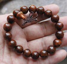 100% Natural Chinese Hainan Huanghuali Preyer Buddha Beads Bracelet * 12mm * 18颗