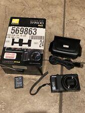 Nikon COOLPIX S9100 12.1MP Digital Camera - Near Mint-Tested! IOB