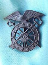 Scarce Original Pre Ww1 Us Army Quartermaster Collar Insignia Badge Pin Back (1)