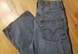 "Men's Levi's Carpenter Loose Straight 32 X 32"" (measures true) Denim Blue Jeans"