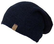 Angela &William Mens Multi-Color Rib Knit Slouch Winter Hat #857 Blue/Black