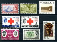 Caribbean Stamps 8 off QEII Mint