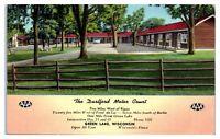 1950s/60s The Dartford Motor Court, Green Lake, WI Postcard