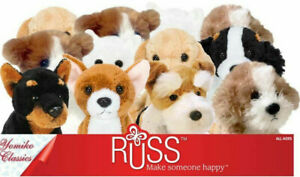 "Russ Yomiko 5"" Dog Plush Jack Russell Chihuahua Westie Doberman Terrier Labrador"