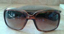 O by Oscar De La Renta Dark Brown Tortoise Shell Amber Lens Sunglasses Mod.1096