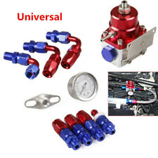 Universal Red Adjustable Fuel Pressure Regulator Kit AN 6 Fitting End Pretty