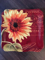 """Certified International Color Bakery 12 3/8"""" sq serving platter by Mindy Sommers"""