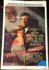 Big Sleep! '78 R.Mitchum, Amsel Art Noir Classic Original U.S. Os Film Poster!