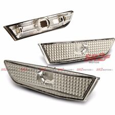CLEAR CHROME BUMPER SIDE MARKER LIGHT LAMP FITS FOR 03-07 INFINITI 2DR COUPE