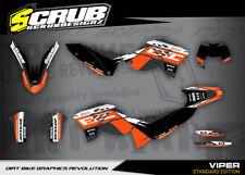 SCRUB KTM graphics kit EXC 125 250 300 450 530 decals 2008 2009 2010 2011 08-11