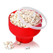 Microwave Silicone Popcorn Popper Maker Collapsible Bowl Container Kitchen Tool