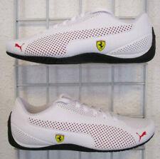 Puma Ferrari Drift Cat 5 Ultra Men's Sneakers, New White Red Walking Shoes Sz 9