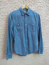 LVC LEVIS STRAUSS SMALL SELVEDGE CHAMBRAY LONG SLEEVE SHIRT LIGHT DENIM BUTTON