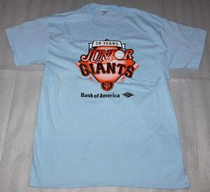 Junior Giants Team Parent San Francisco Gildan Blue Adult T-Shirt Unisex Large