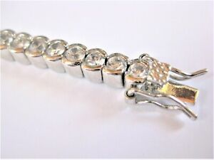 Tennis Bracelet Silver Plated, 16,83 G