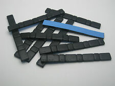 10 x Black Adhesive Stick On Wheel Weights 10x60g - 5g/10g Per Strip