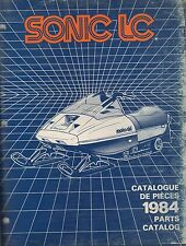 1984 MOTO-SKI SONIC LC SNOWMOBILE PARTS MANUAL P/N 480 1185 00 (708)