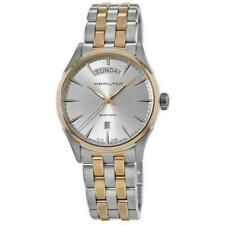 Hamilton Jazzmaster Silver Men Watch with Gold Stainless Steel Band - H42525251