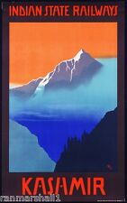 Indian State Railways - Kashmir Vintage India Travel Advertisement Poster Art