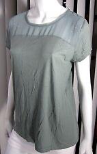 Ann Taylor LOFT NWT Lace Chest Blouse Size PL Petite Large Solid Light Green