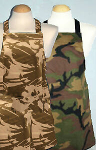 kids apron ** Army / green / brown Camouflage ** 9 - 12 yrs and Teenage