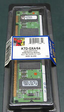 Kingston KTD-GXA64 (64 MB, SDRAM, DIMM 168-pin)