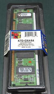 Kingston KTD-GXA64 (64 MB, SDRAM, DIMM 168-pin)