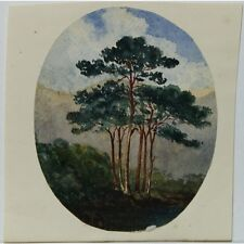J Morgan Traditional English Trees Landscape Bristol c1810 Watercolour Painting