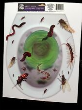 Creepy Horror Prop-BUGS TOILET TOPPER-Cling Decal Bathroom Halloween Decoration